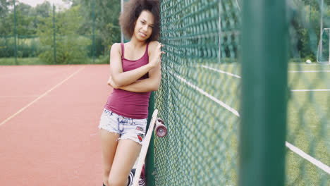 Charming-woman-on-sports-ground