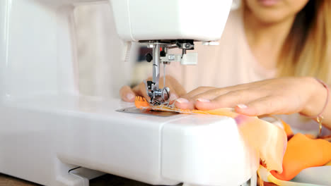 Close-up-shot-of-sewing-machine