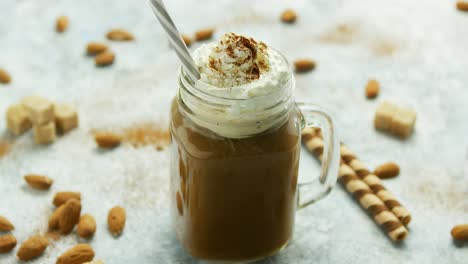 Cup-of-cacao-with-whipped-cream-and-caramel