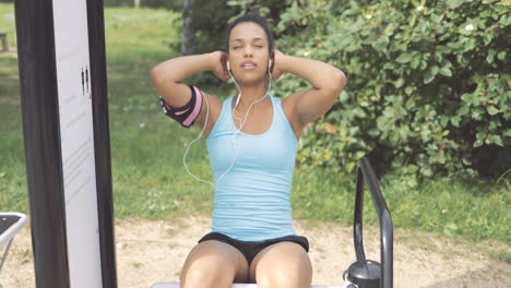 Girl-exercising-in-park