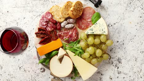 Assortment-of-spanish-tapas-or-italian-antipasti