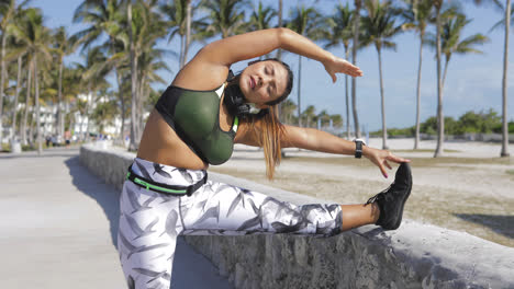 Woman-stretching-with-eyes-closed