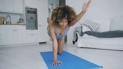 Sporty-woman-training-at-home