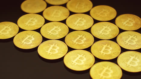 Golden-bitcoins-lying-in-rows