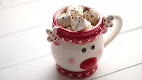 Tasty-homemade-christmas-hot-chocolate-or-cocoa-with-marshmellows