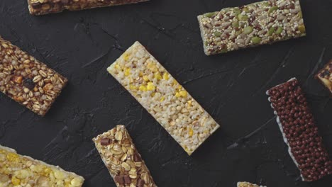 Various-taste-and-flavour-granola-fitness-bars-concept