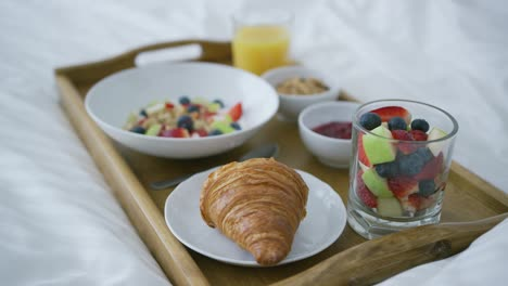 Served-breakfast-on-bed
