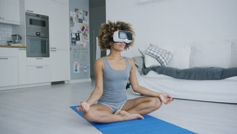 Content-woman-meditating-in-VR-glasses