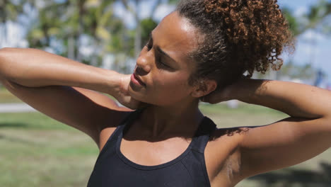 Woman-stretching-neck