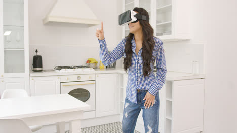 Female-in-VR-glasses-at-home
