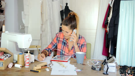Female-tailor-in-process-of-working