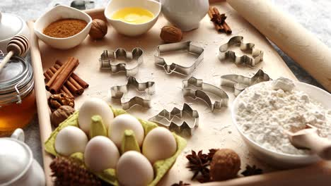 Delicious-fresh-and-healthy-ingredients-for-Christmas-gingerbread