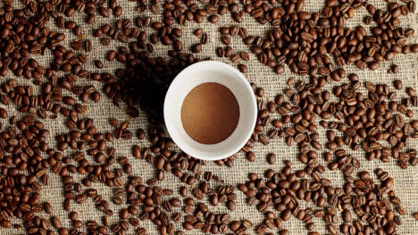 Coffee-beans-and-cup-of-powder