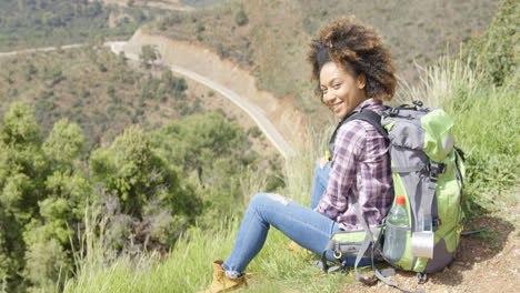 Beautiful-female-traveler-on-mountain