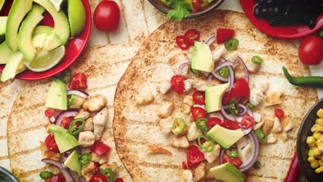 Freshly-made-healthy-corn-tortillas-with-grilled-chicken-fillet-big-avocado-slices