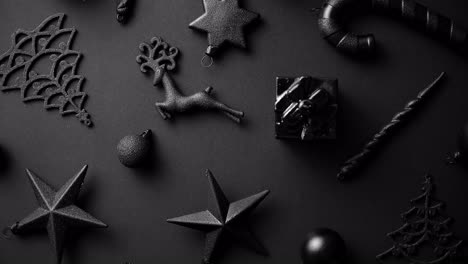 Christmas-minimalistic-and-simple-composition-in-mat-black-color