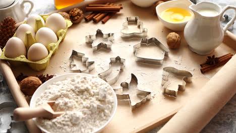 Deliciosos-Ingredientes-Frescos-Y-Saludables-Para-Pan-De-Jengibre-Navideño