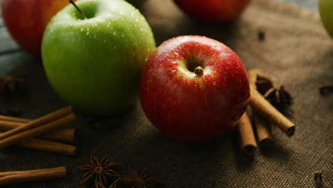 Apples-and-spices-on-table-