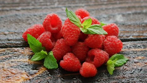 Raspberry-with-green-leaves-