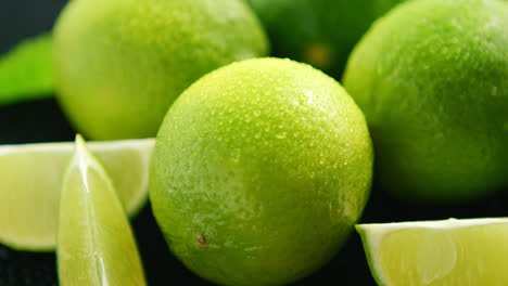 Bright-limes-with-water-drops-