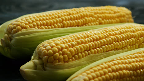 Ripe-corn-ears-with-leaves-