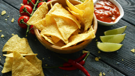 Served-bowl-of-corn-chips-