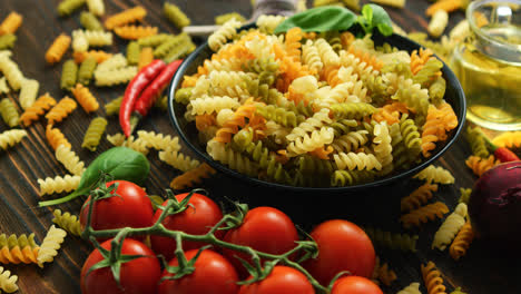 Bowl-with-raw-macaroni-of-different-color