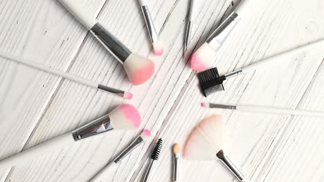 Brushes-for-makeup-in-circle