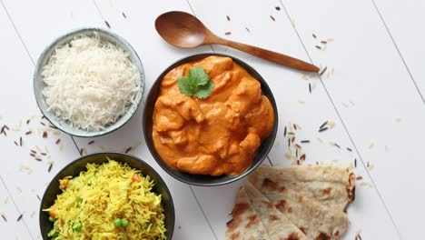 Fresh-and-tasty-Butter-Chicken-served-in-ceramic-bowl-Indian-traditional-dish