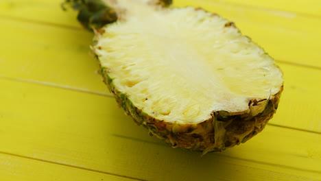 Half-of-cut-fresh-pineapple