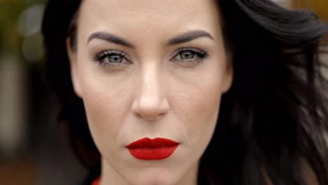 Serious-woman-with-vivid-makeup