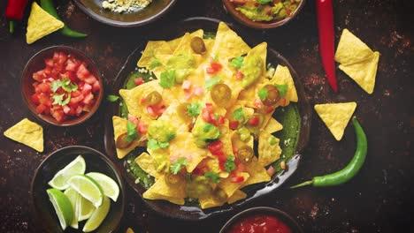 Fresh-yellow-corn-nacho-chips-on-ceramic-plate