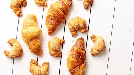 Various-croissants-lying-on-table