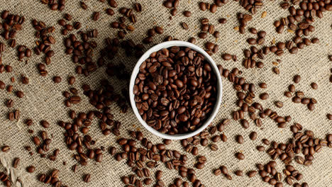 Bowl-of-coffee-beans-on-canvas