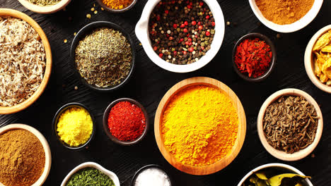 Bowls-with-colorful-spices-