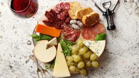 Assortment-of-spanish-tapas-or-italian-antipasti
