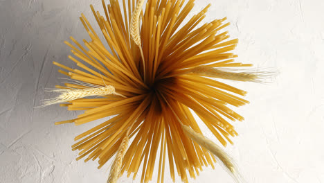 Raw-spaghetti-with-wheat