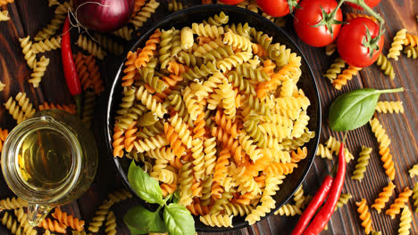 Bowl-of-uncooked-pasta-from-above