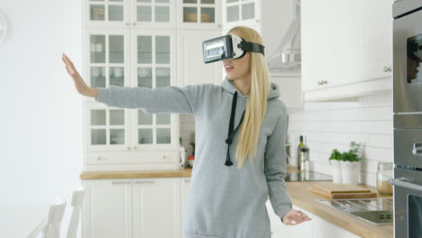 Woman-enjoying-VR-headset