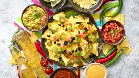 Mexican-corn-nacho-spicy-chips-served-with-melted-cheese