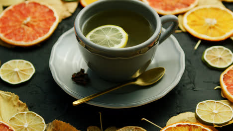 Cup-of-tea-with-lemon-and-spoon