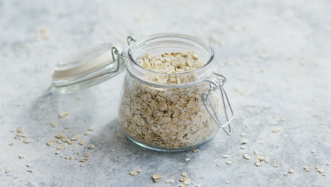 Glass-jar-with-raw-oats