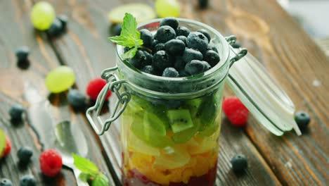 Fresh-fruits-in-glass-jar
