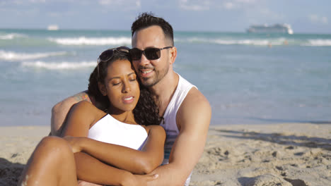 Embracing-romantic-couple-on-shore