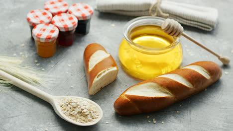 Arrangement-bread-and-sweet-honey