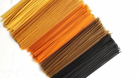 Uncooked-multicolored-spaghetti