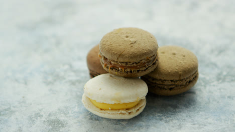 Delicious-macarons-pastries-on-marble