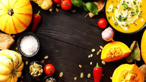 Verduras-Frescas-Colocadas-En-Círculo-