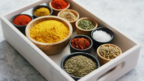 Wooden-box-with-assortment-of-spices