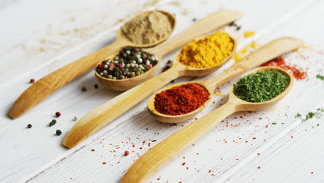 Composition-of-wooden-spoons-with-spices